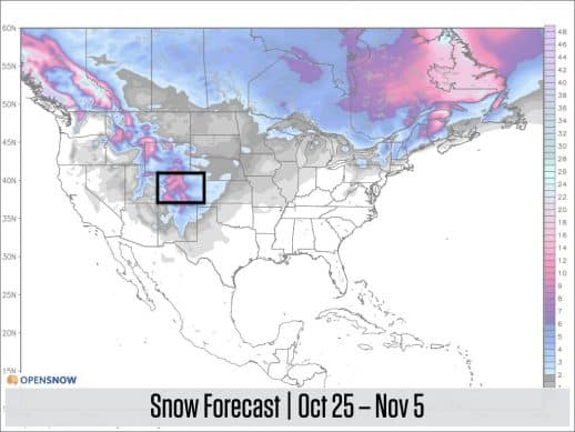 Snow in The Forecast For Crested Butte