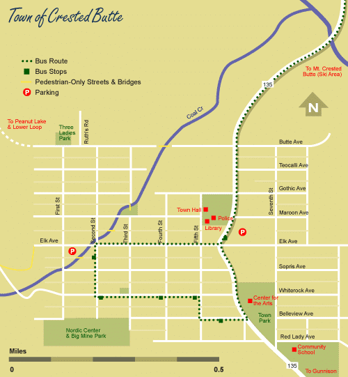 Town of Crested Butte Map