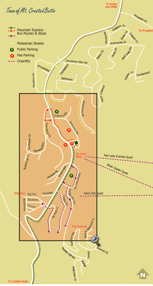 Town of Mt. Crested Butte Map