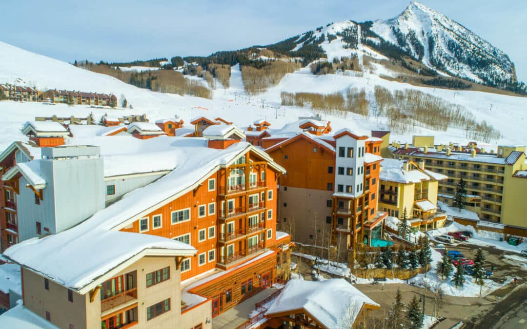 MLS 757149 - 620 Gothic Road, Unit 211, Mt. Crested Butte - aerial image.