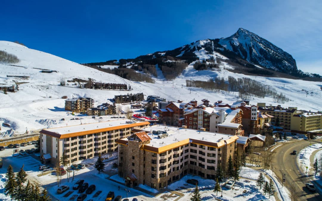 aerial view of Grand Lodge - 6 Emmons Road, Unit 363, Mt. Crested Butte (MLS 764878)