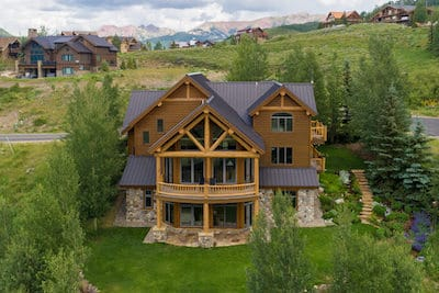 Aerial image of 26 Summit Road, Mt. Crested Butte