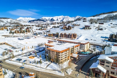 Aerial View of the Grand Lodge, Mt. Crested Butte